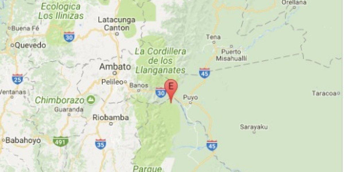 Se registró sismo de 3.6 grados en Puyo, Pastaza