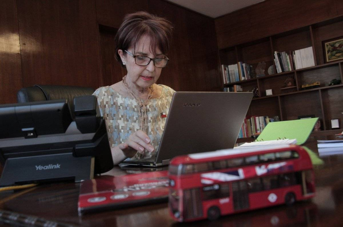 Gloria Hutt, ministra de Transportes / Gentileza