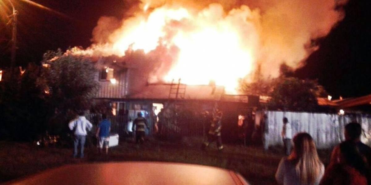 Menor de 5 años y sus padres mueren tras incendio en Osorno
