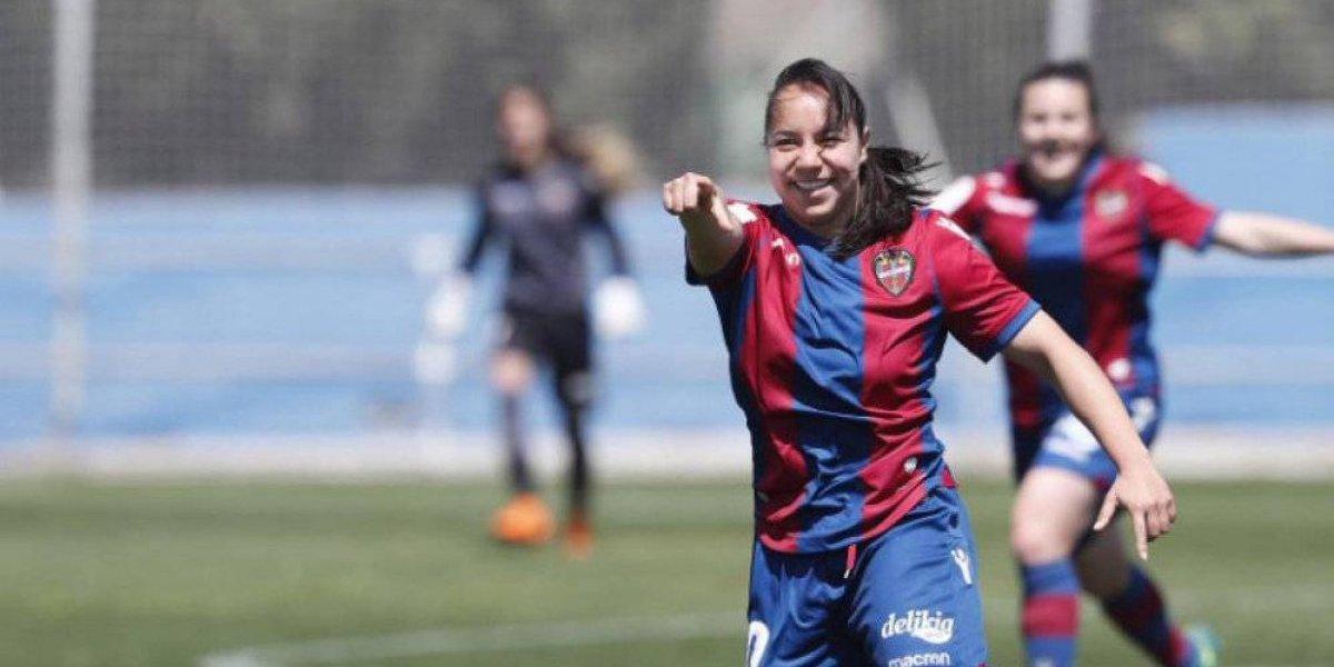 Charlyn Corral se convierte en la goleadora histórica del Levante