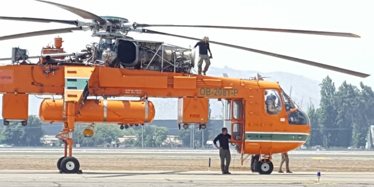 """""""Elvis"""" llega a Santiago: helicóptero más grande del mundo se sumará a lucha contra incendios"""