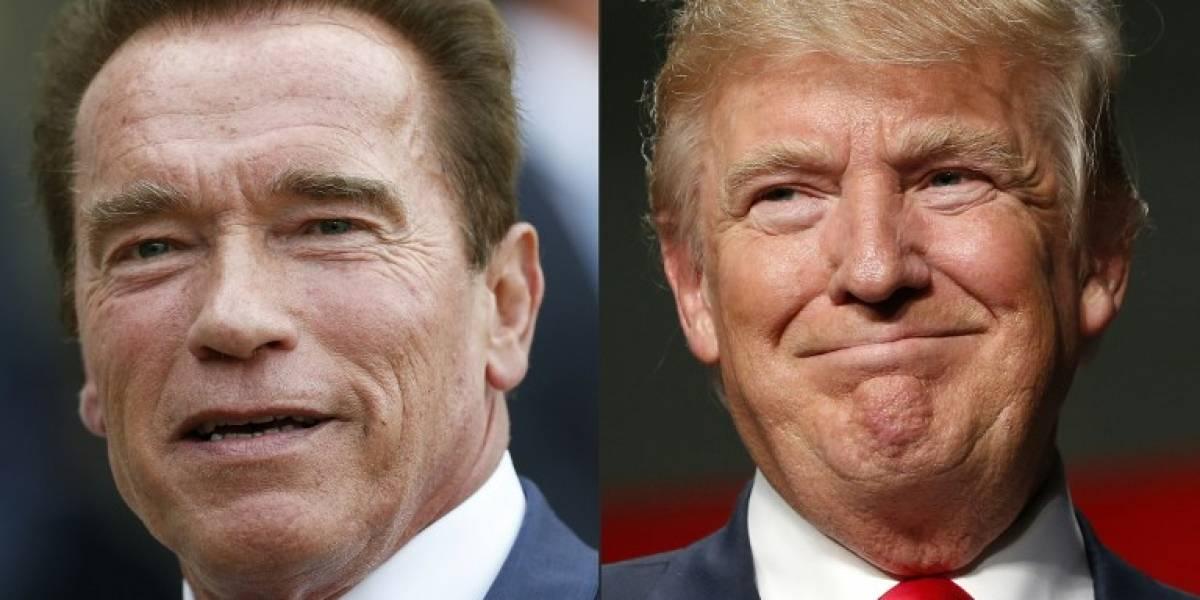 """Schwarzenegger le responde a Trump: """"¿Por qué no intercambiamos nuestros trabajos?"""""""