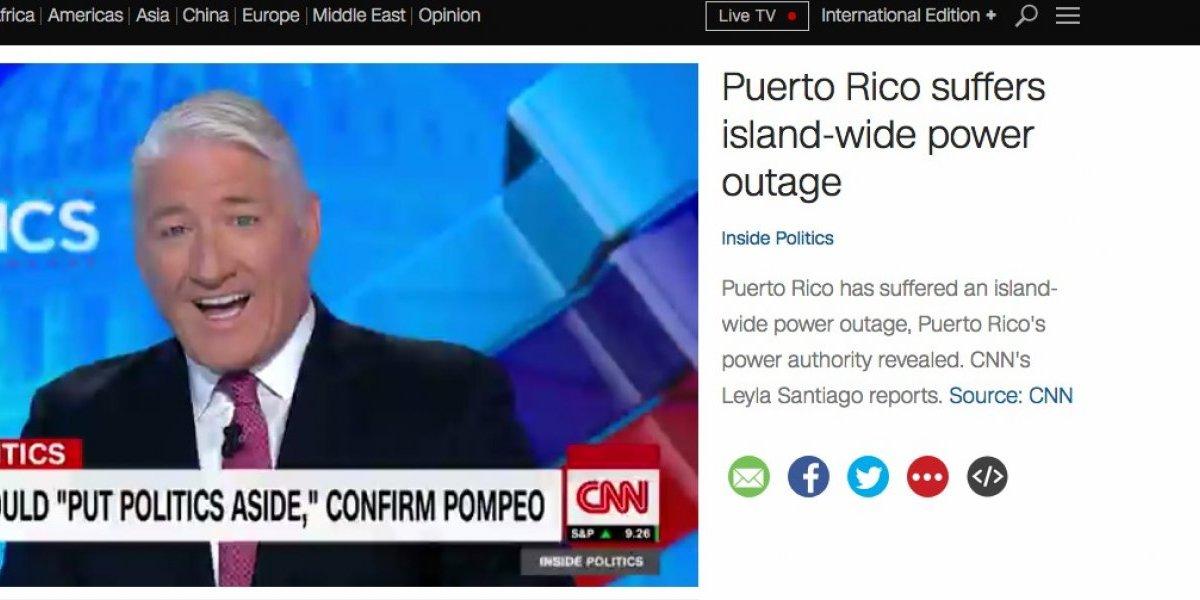 Medios internacionales reportan nuevo apagón en todo Puerto Rico