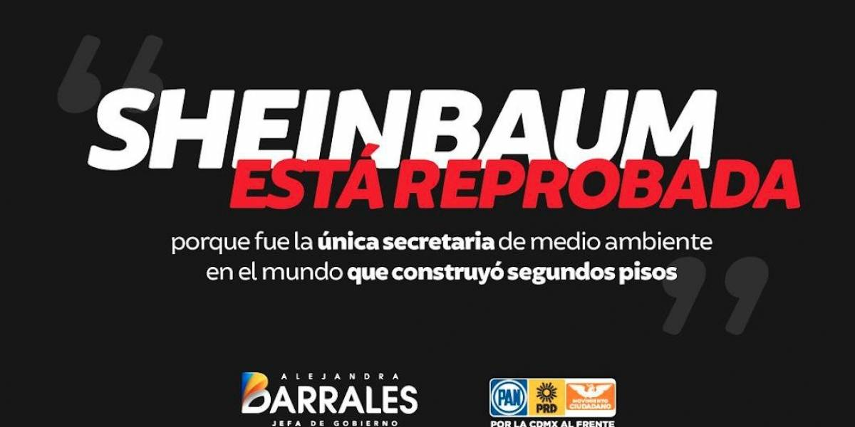 Barrales 'reprueba' a Sheinbaum en #DebateChilango y en redes sociales