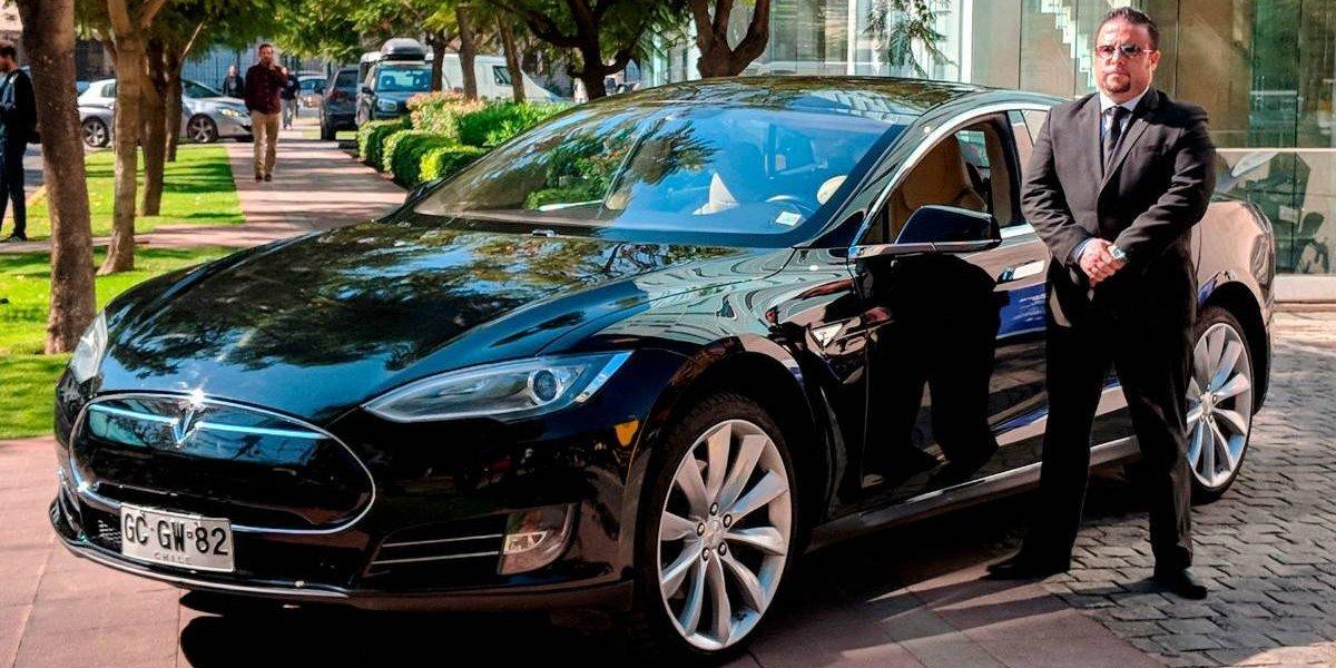 El único Tesla en Chile fue parte de Cabify por un día