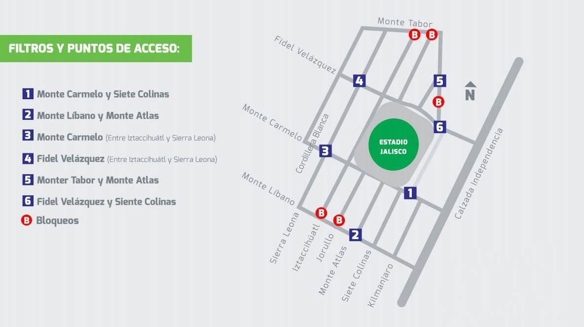 Alistan operativo para el partido Atlas – Chivas en el Jalisco