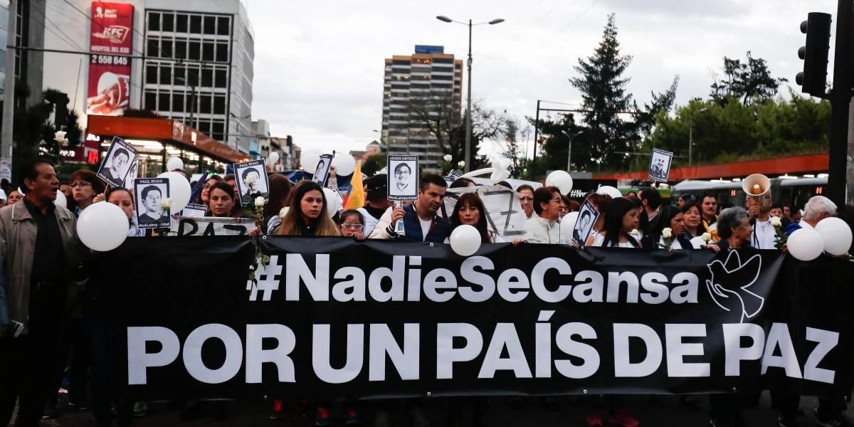 ANDES (Quito) Convocan en Ecuador a varias marchas por la paz