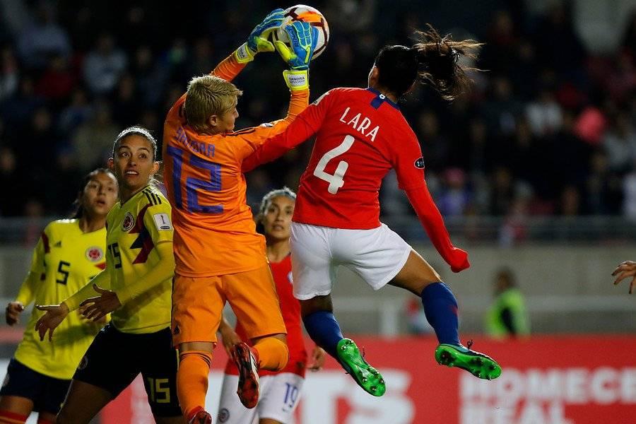 La meta colombiana Sandra Sepúlveda fue figura importante ante Chile / Foto: Agencia UNO