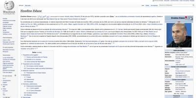 Apodo de Wikipedia para Zinedine Zidane
