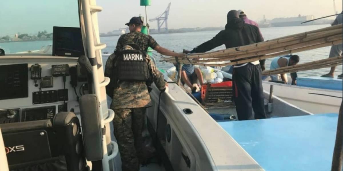 Detienen a colombianos y guatemaltecos con media tonelada de cocaína en Pacífico