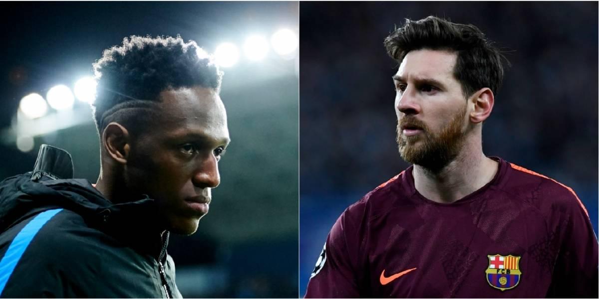 El fuerte regaño de Lionel Messi a Yerry Mina en el partido ante el Celta