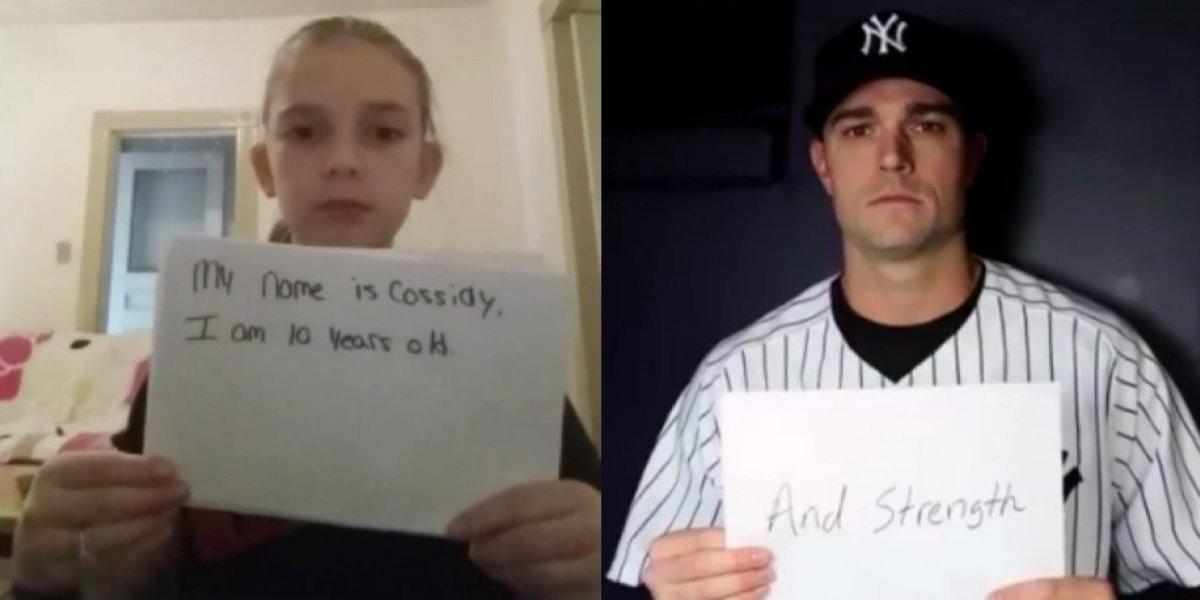 VIDEO: Yankees muestra apoyo a niña que sufre de bullying
