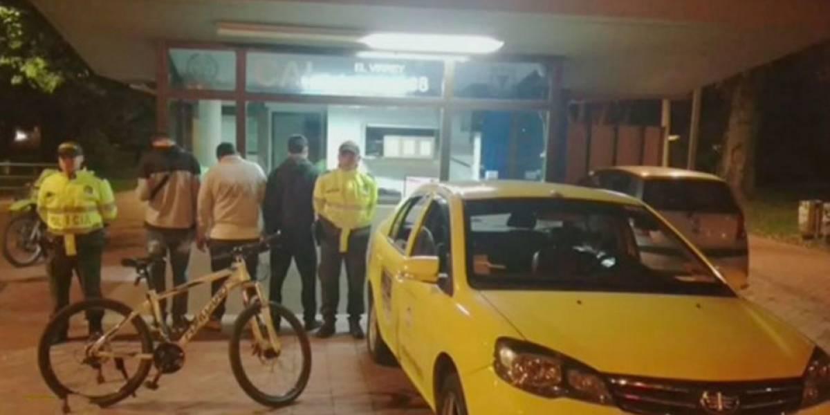 Bicitaxistas atacaron a un taxista con una varilla en el sur de Bogotá