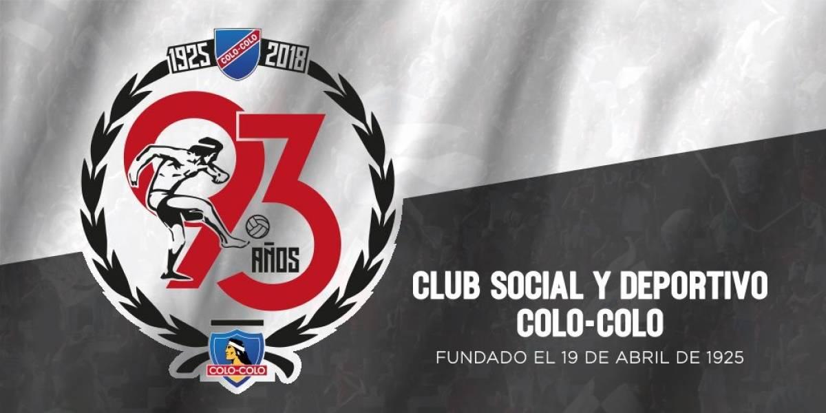 #93AñosColoColo: del Condor Rojas a Lucho Mena, todos los saludos al Cacique en su nuevo aniversario