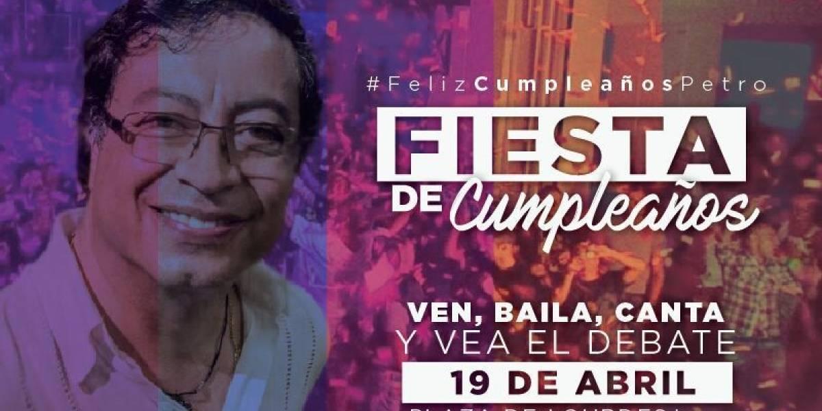 Así será la fiesta de cumpleaños de Gustavo Petro organizada por sus seguidores