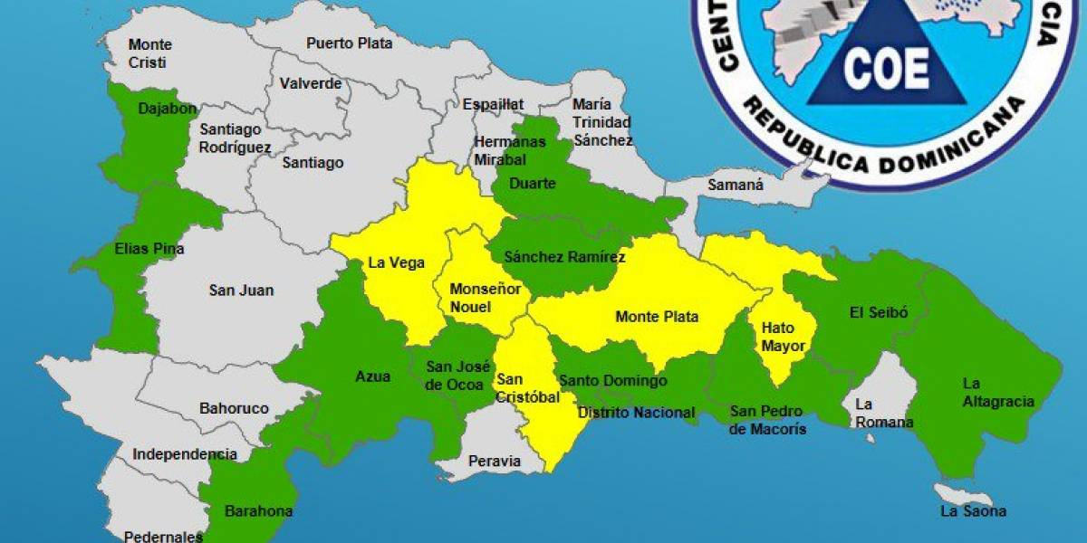 La mitad de la República Dominicana en alerta por lluvias