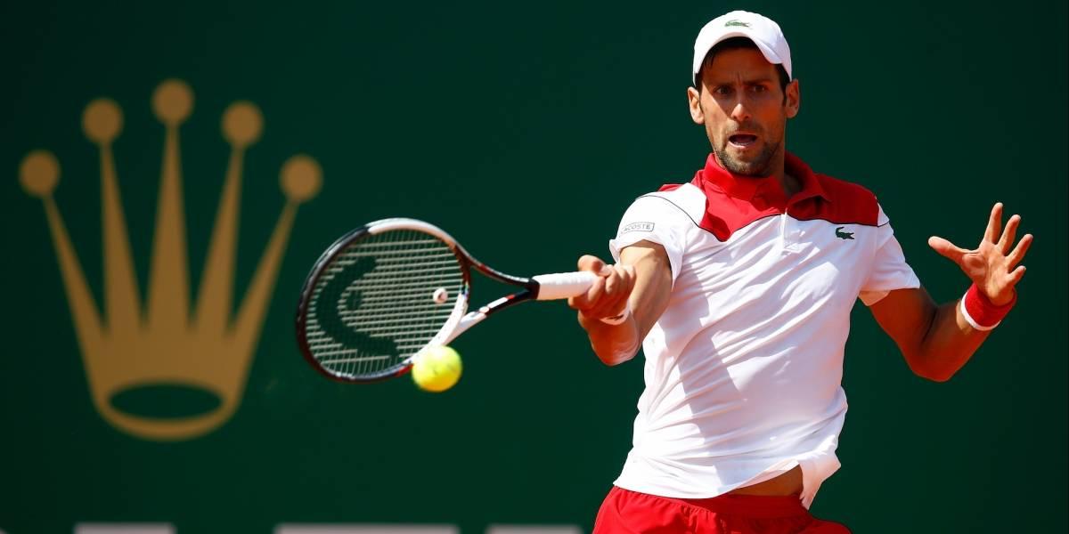 Djokovic sigue a la baja y queda eliminado de Montecarlo