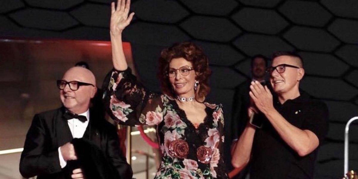 Así se vivió el desfile de Dolce and Gabbana con Sophia Loren