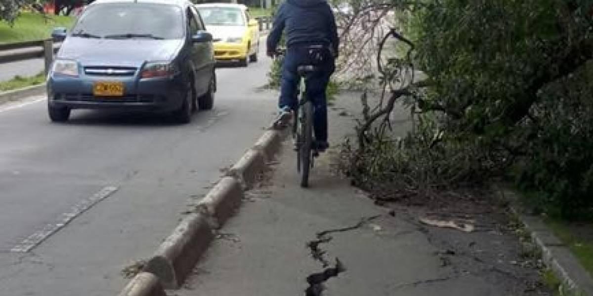Personería de Bogotá evidencia el pésimo estado de las CicloRutas