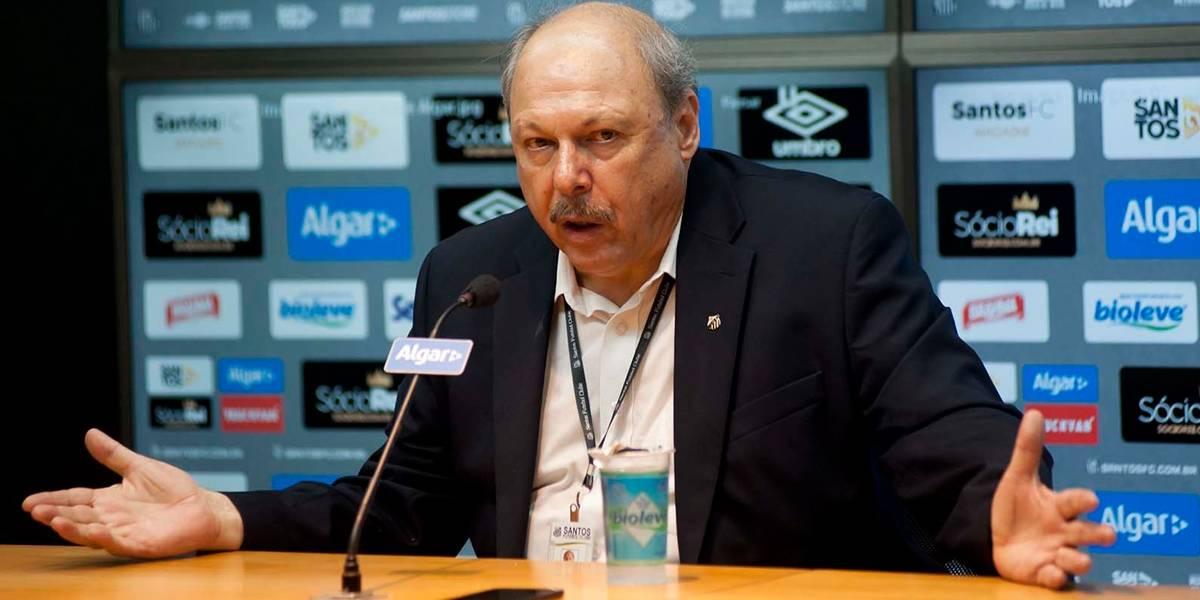 Presidente santista se diz surpreso com denúncia de abuso sexual na base do clube
