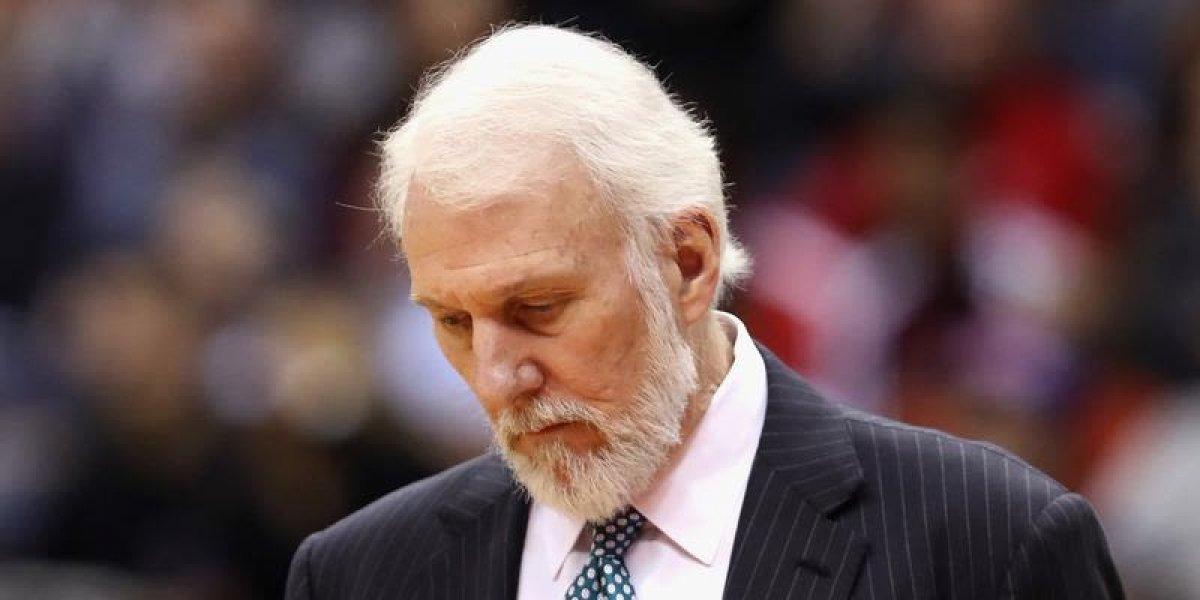 Gregg Popovich deja banquillo de los Spurs debido a muerte de su esposa
