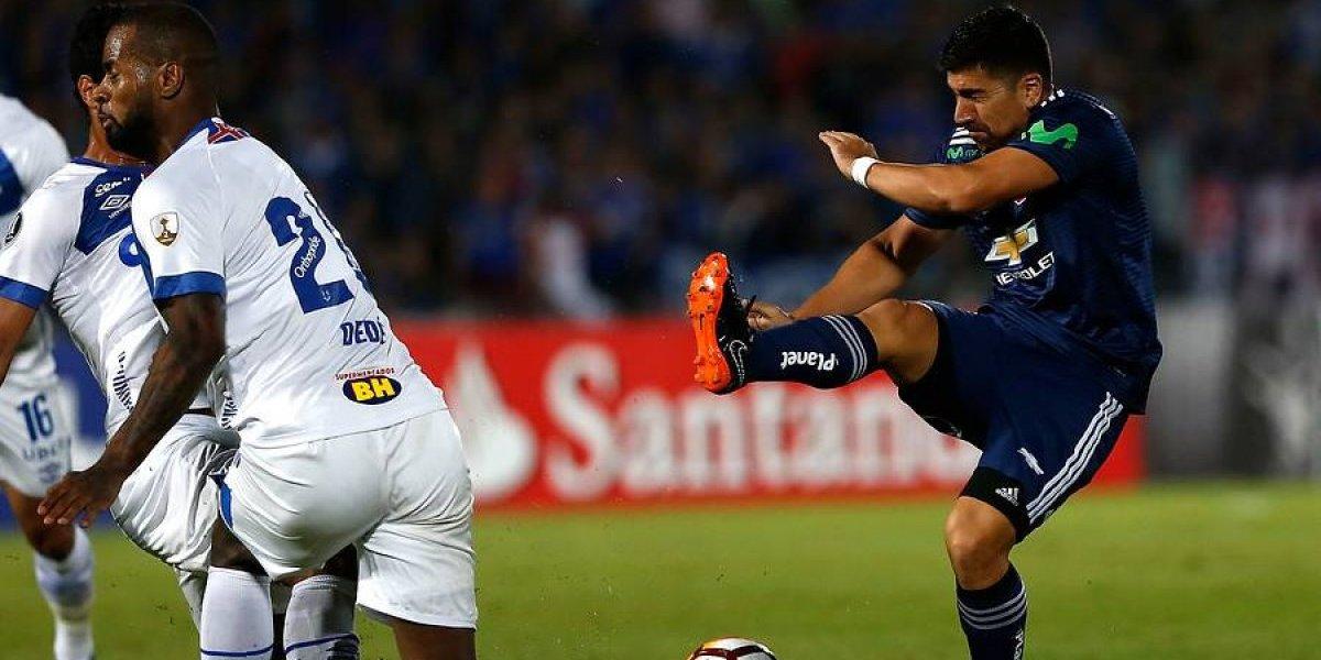 Uno a uno azul: El ritmo de Pizarro no le alcanzó a la U para derribar el muro de Cruzeiro