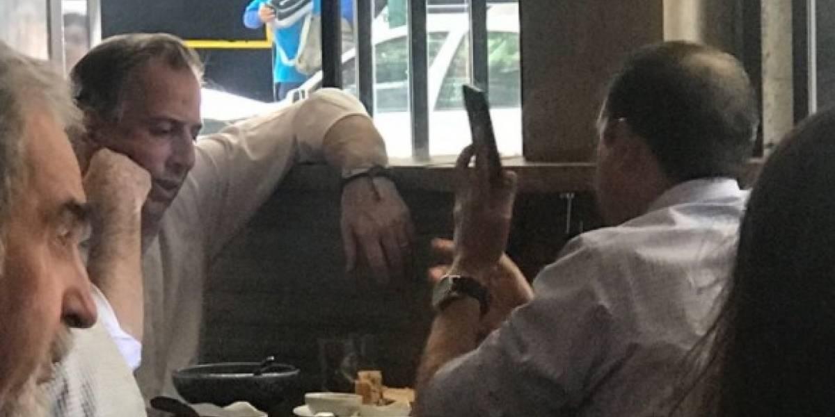 Captan a José Antonio Meade y Cordero en restaurante de la CDMX