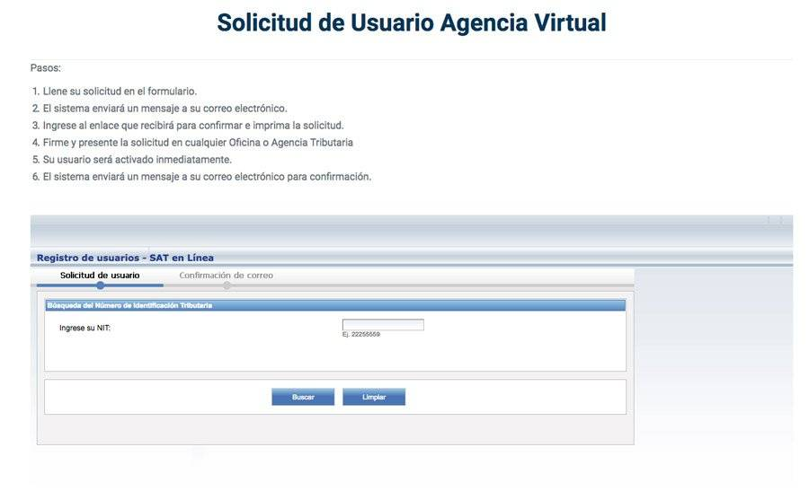 Solicitud de Agencia Virtual