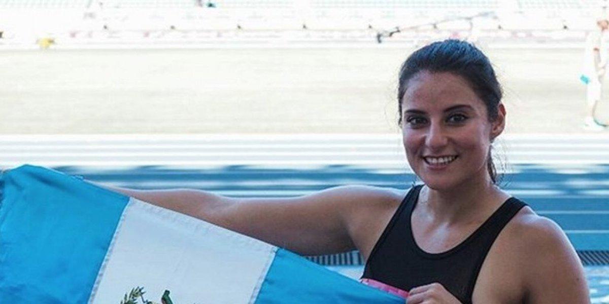 Thelma Fuentes, una de las atletas que representa a Guatemala en los Juegos Deportivos Universitarios