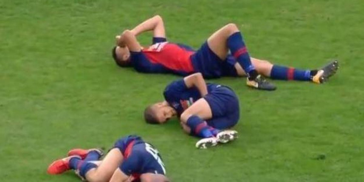 Tres jugadores se lesionan en la misma jugada