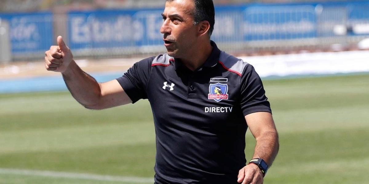 Agustín Salvatierra definió su primera oncena al mando de Colo Colo tras la partida de Pablo Guede