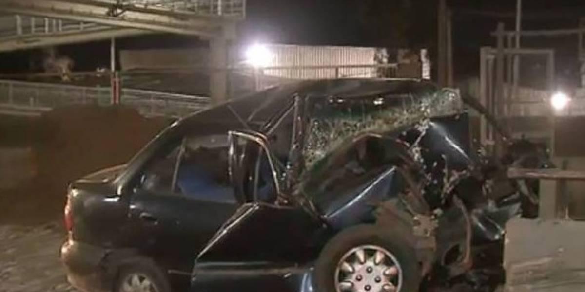 Delincuente fallece tras chocar contra barrera durante persecución policial en San Bernardo