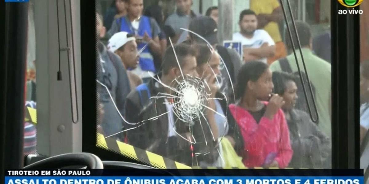 Arrastão dentro de ônibus acaba com três mortos e quatro feridos em São Paulo