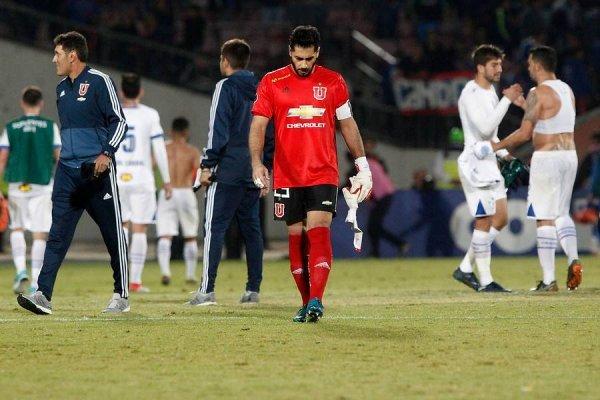 Johnny Herrera masticó la rabia en el Nacional ante Cruzeiro / Foto: Photosport