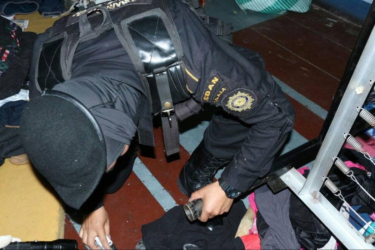 Acciones de la Policía Nacional Civil. Fotos: Publinews