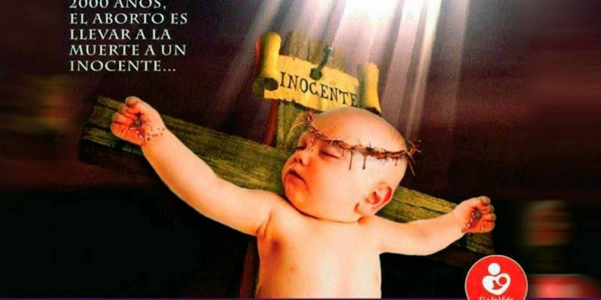 La controvertida imagen con la que promocionan un festival contra el aborto que desató toda una polémica en Argentina