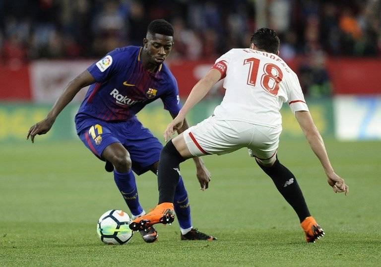 Dembele en un partido ante el Sevilla