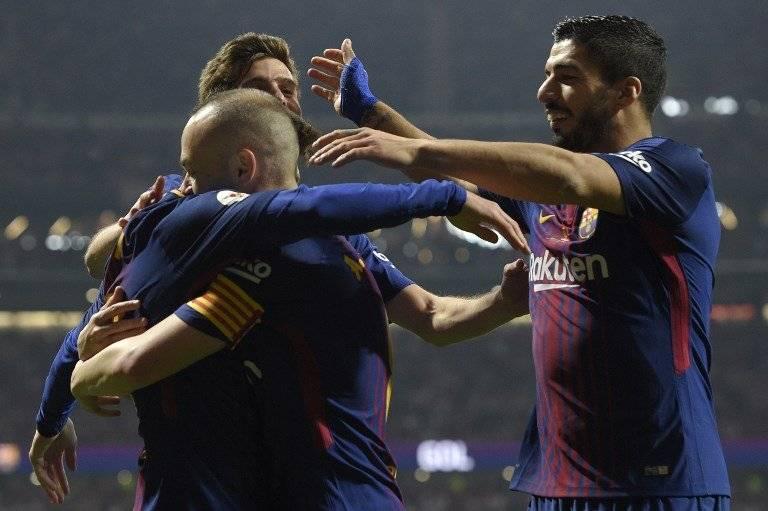 La celebración de Andrés Iniesta