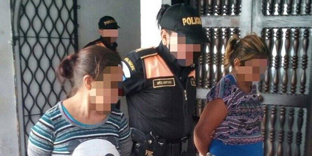 PNC detiene a presuntas asaltantes en Antigua Guatemala