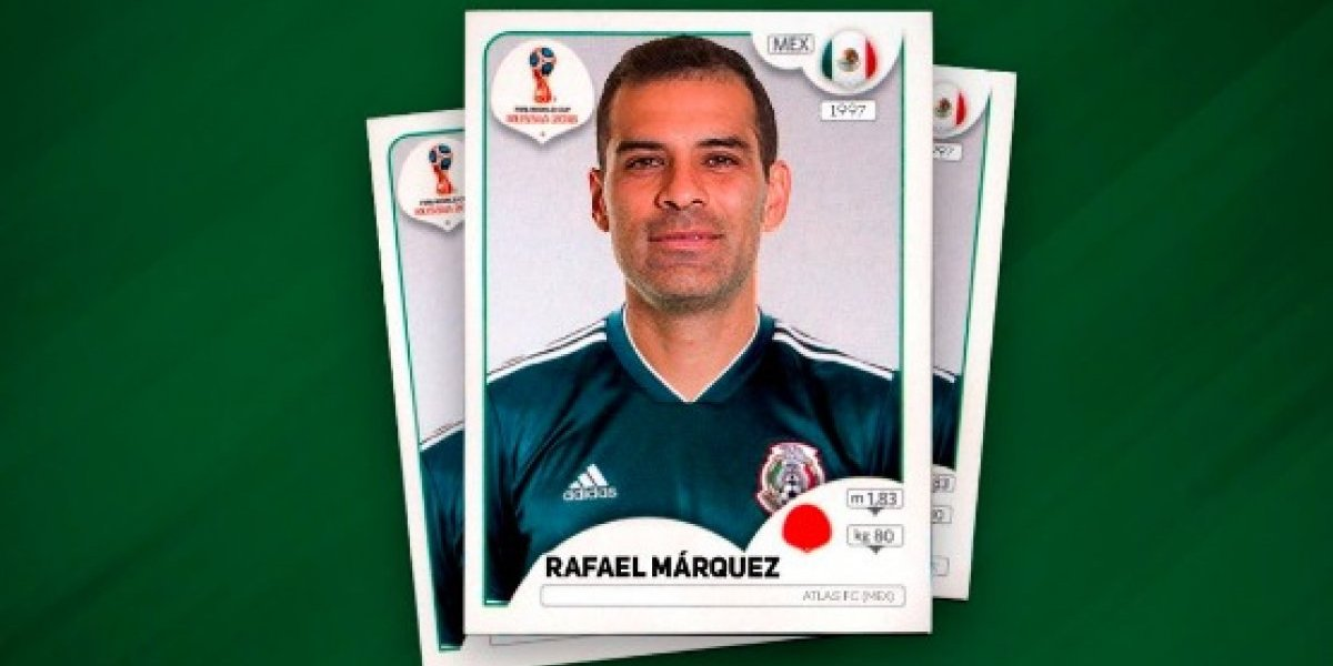 Panini sacaría estampa mundialista de Rafael Márquez