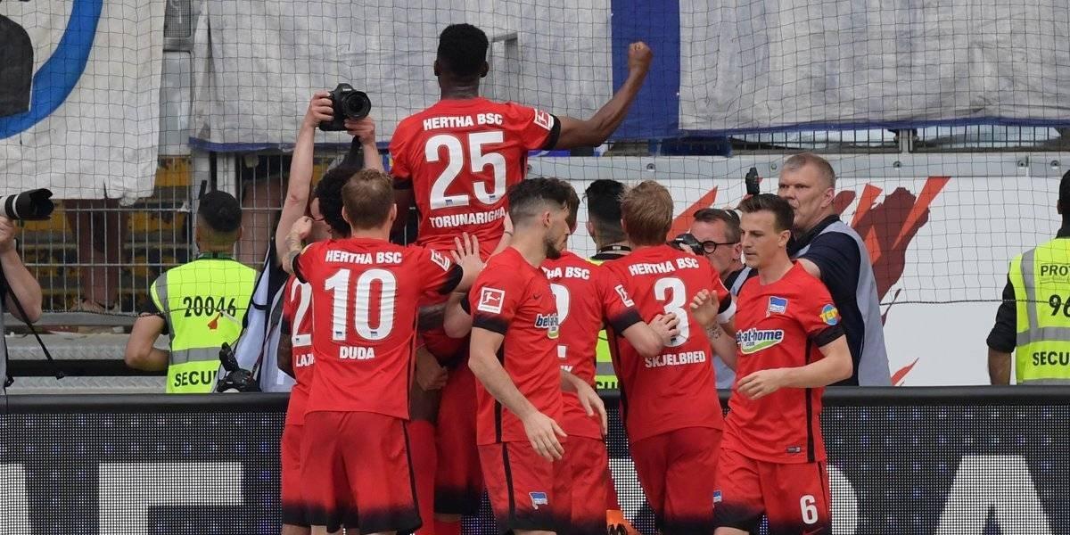 Marco Fabián y Eintracht Frankfurt caen frente al Hertha Berlín