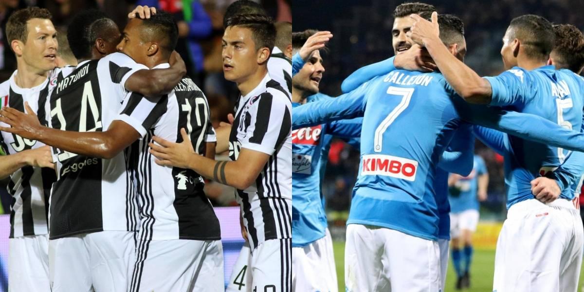 ¡Partidazo! Juventus y Napoli definen la Serie A 2017/18
