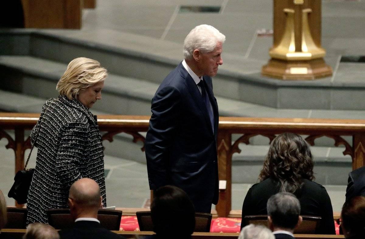 También asistieron el ex presidente Bill Clinton y su esposa Hillary Clinton, ex candidata a la presidencia. Foto: Getty Images