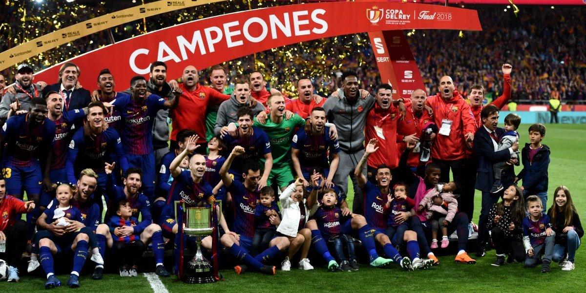 Barcelona se corona por cuarta ocasión consecutiva en la Copa del Rey