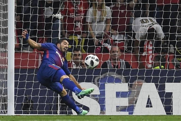 El primer tanto de Luis Suárez
