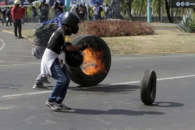 Manifestaciones en Nicaragua. Fotos: AFP