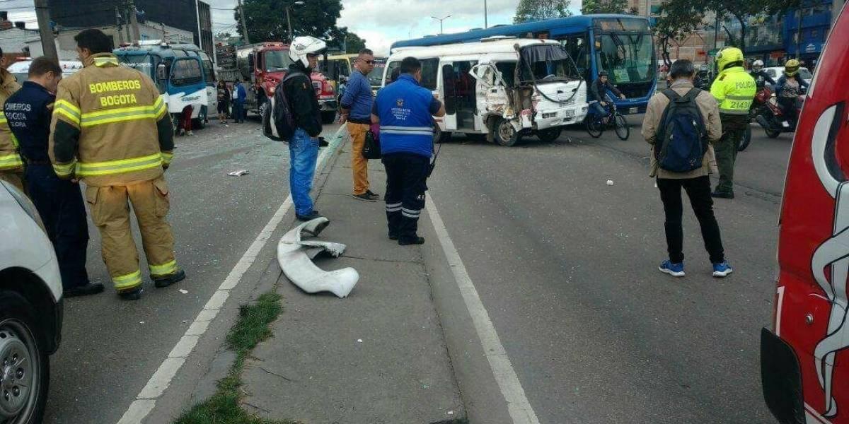 ¡Atención! Grave accidente en la avenida Boyacá de Bogotá