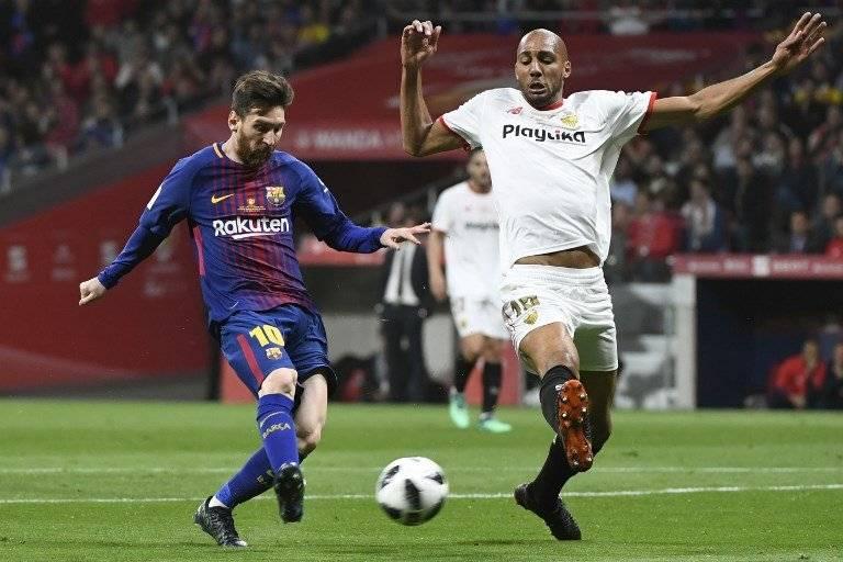 Steven N'Zonzi en la final de Copa del Rey
