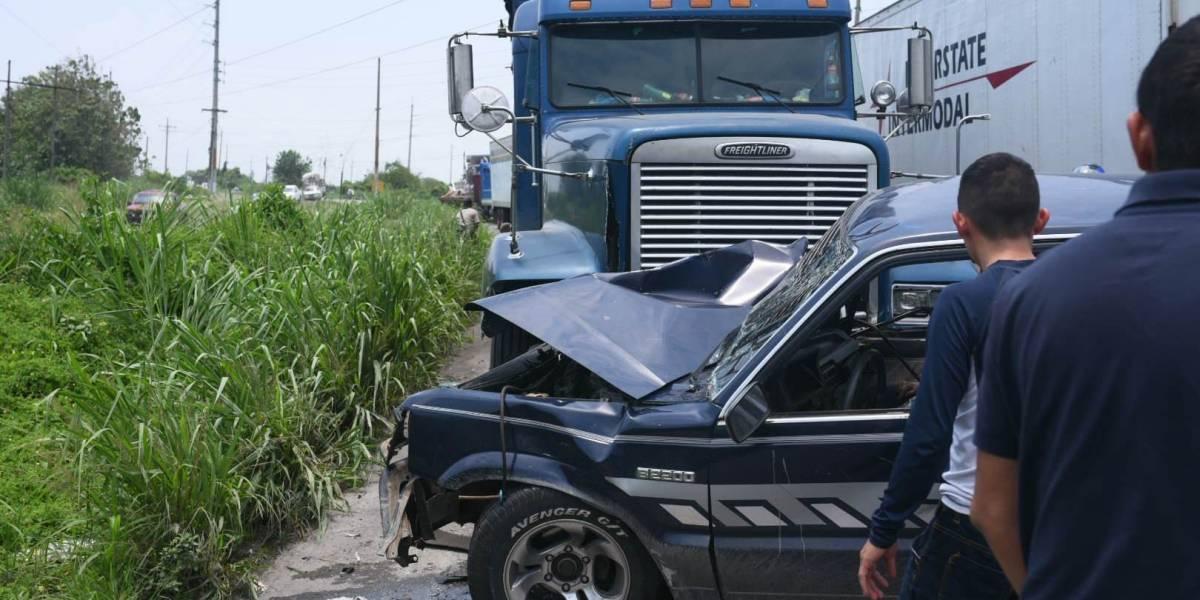 Aparatoso accidente deja varios heridos en ruta hacia Mazatenango