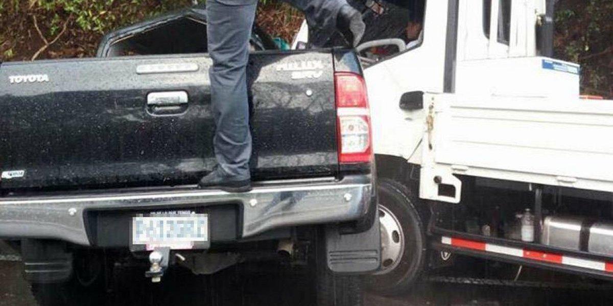 Agente PNC muere en choque en ruta a El Salvador